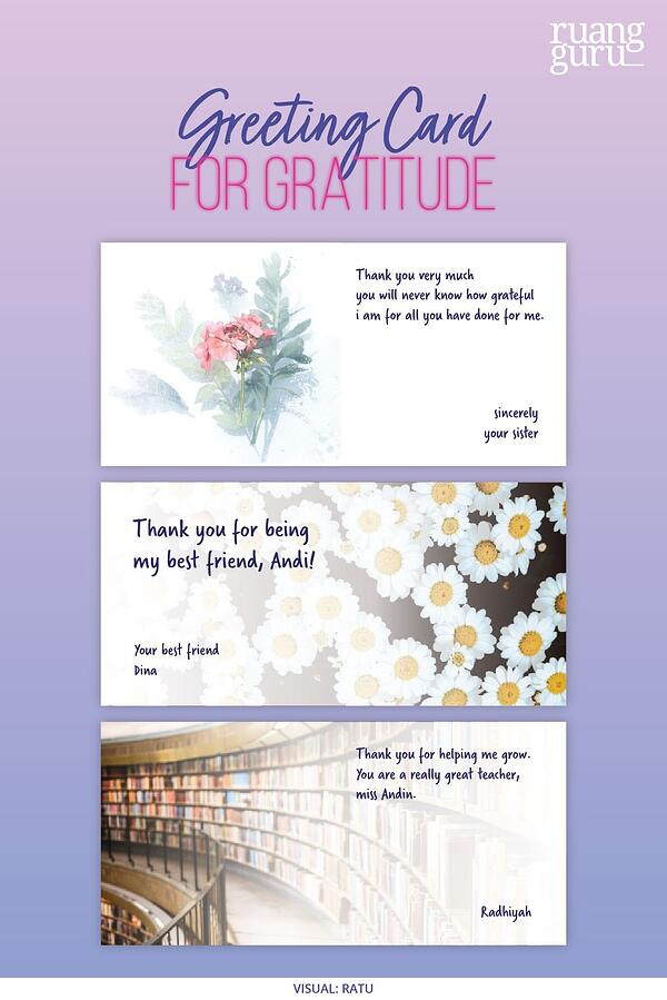 greeting card for gratitude