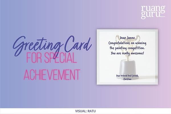 greeting card for special achievement