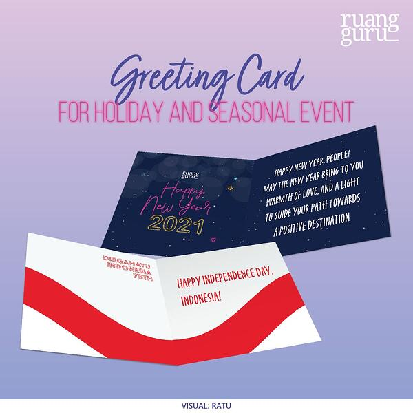greeting card for holiday and seasonal event