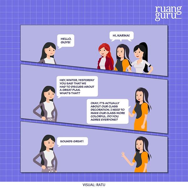 contoh dialog expression of agreement and disagreement