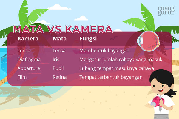 kamera alat optik - mata vs kamera
